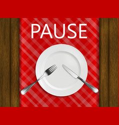 pause not finished yet vector image