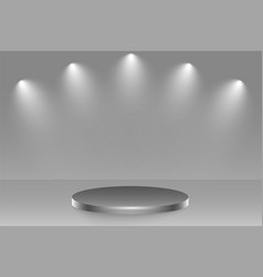 Podium stage with spotlight focus background vector