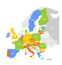 political map of europe with highlighted 28 vector image