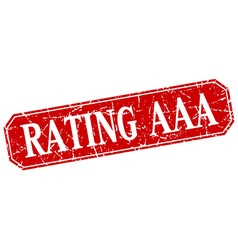 Rating aaa red square vintage grunge isolated sign vector