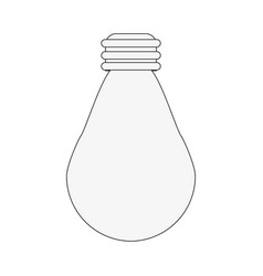 Regular lightbulb icon imag vector