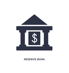 Reserve bank icon on white background simple vector