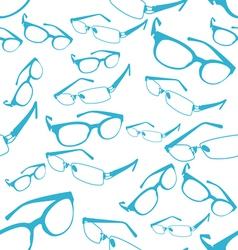 Seamless Blue Spectacle Pattern vector