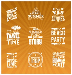 Set summer logotype vector
