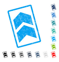 Shift up icon rubber watermark vector