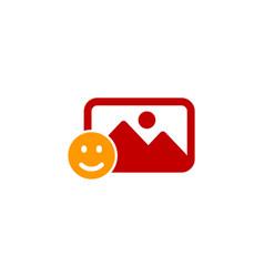 smile social network logo icon design vector image
