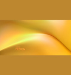 soft yellow wave abstract liquid background vector image