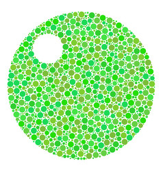 Sphere composition of dots vector