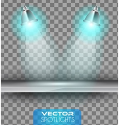 Spotlights scene with different source of lights vector image