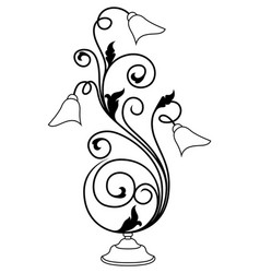 Stencil table exquisite lamp vector