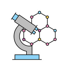Structure molecular with microscope vector