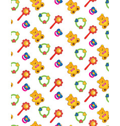 toy seamless pattern bapattern abstract baby vector image