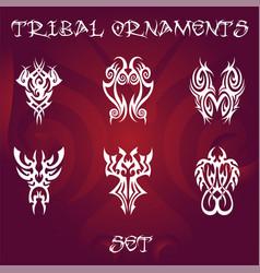 Tribal design elements and tattoo ornaments vector