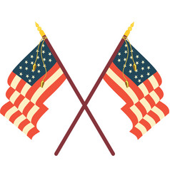 Two american flags vector