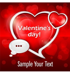 valentines day message vector image