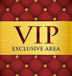 VIP card design vector