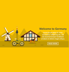 welcome to germany banner horizontal concept vector image