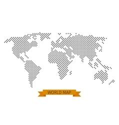 World map cross dot vector