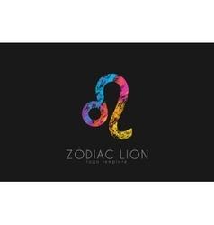 Zodiac symbol leo lion symbol creative vector