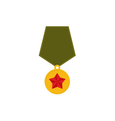 army medal isolated military reward on white vector image