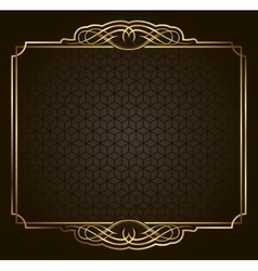 Calligraphic Retro gold frame on background vector image vector image