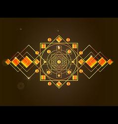 cosmic mandala vector image
