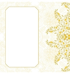 Floral swirl card template design vector image vector image