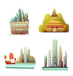 Hong Kong 2x2 Design Concept vector image vector image