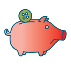 sad piggy bank or money box vector image vector image