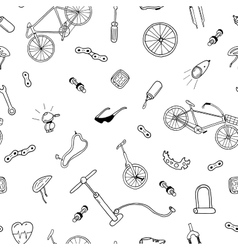 seamless pattern in doodle styleBicycle vector image vector image
