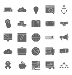 Seo and e-marketing silhouetetes icon set vector image