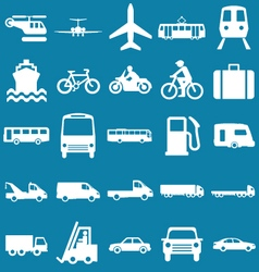 Transport Related Graphics vector image vector image