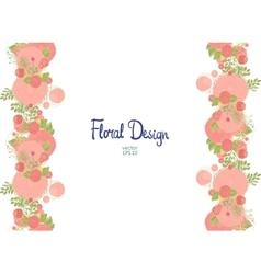 Vertical floral border vector image vector image