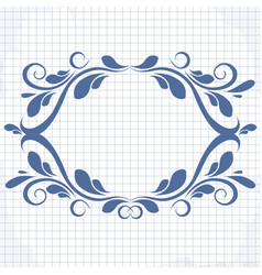 background of a notebook with a patterned vector image vector image