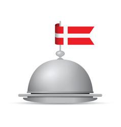 Denmark flag dinner platter vector