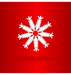 Nice star on the red background vector image vector image