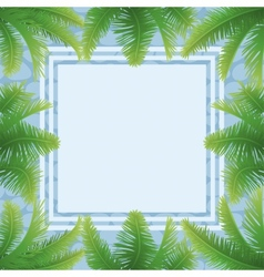 Palm leaves and abstract pattern vector image vector image