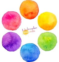 Rainbow watercolor circles vector image vector image