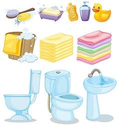 Set of bathroom equipments vector image