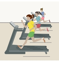 Women at the Gym vector image vector image