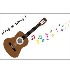Brown guitar vector image vector image