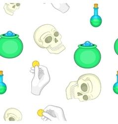 Halloween elements pattern cartoon style vector image vector image
