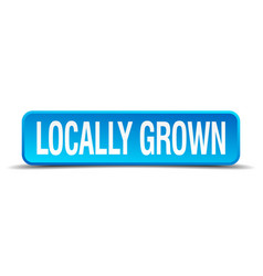 locally grown blue 3d realistic square isolated vector image vector image