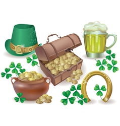 Saint Patricks Day set vector image vector image