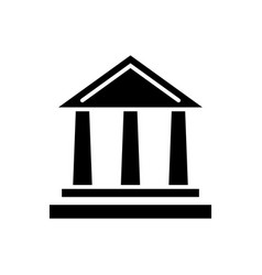bank icon black sign on vector image