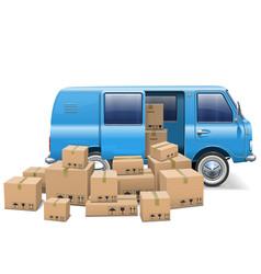 Delivery Minivan vector image vector image