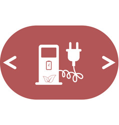 Electric car charging station sign icon vector