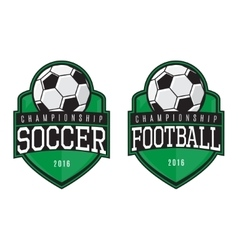 labels of soccer and football vector image vector image