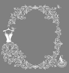 lace wedding dress vector image vector image