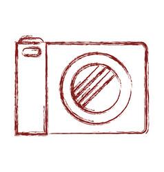 photo camera icon in dark red blurred silhouette vector image
